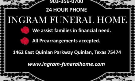 J. Frank Willingham Jr., 76, Farmersville,  December 8, 1942 – July 11, 2019